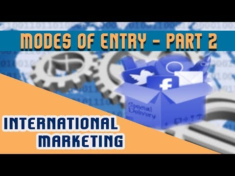 International marketing : Modes of Entry in International Business | Part 2
