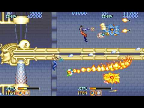Forgotten Worlds arcade 2 player 60fps