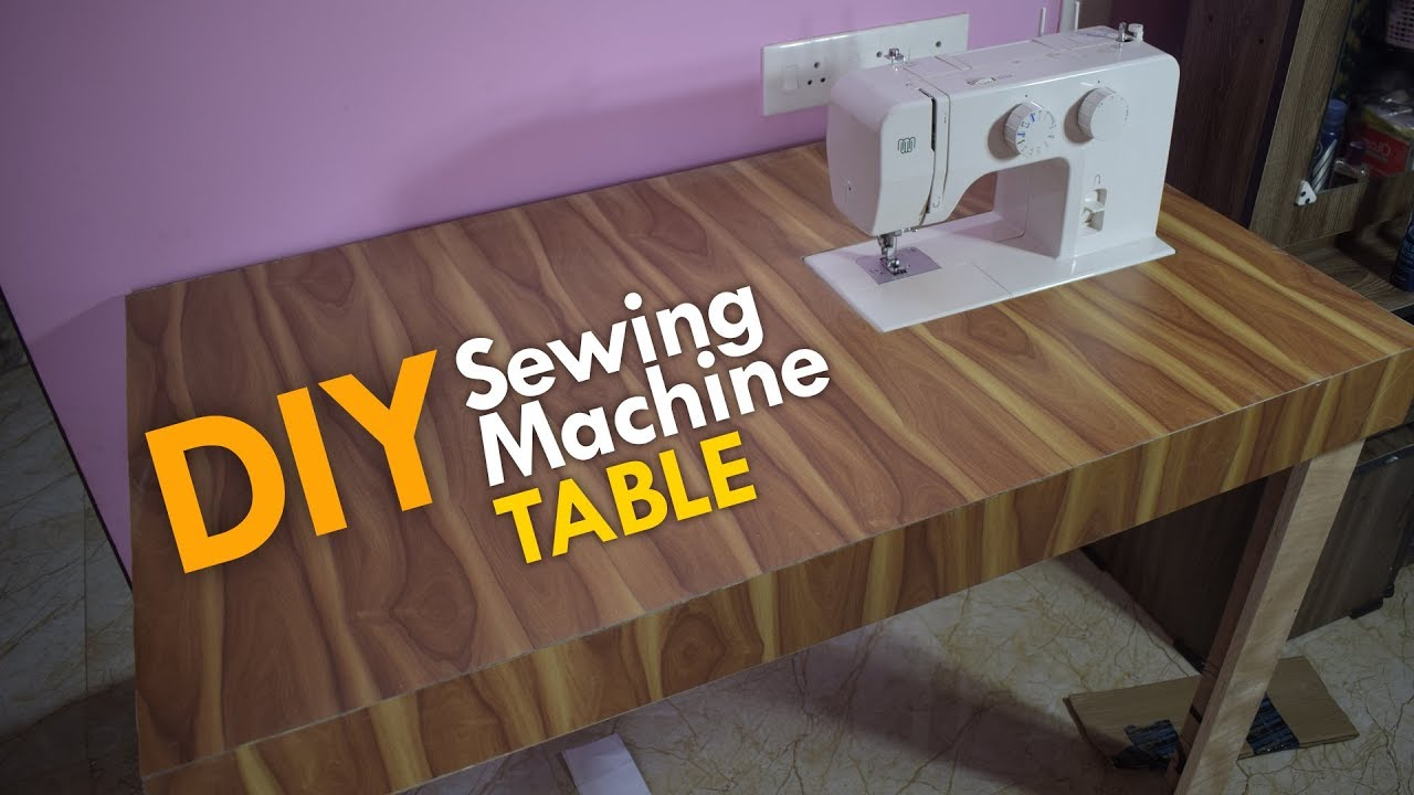 Diy Sewing Machine Table.Diy Sewing Machine Table Making Using Plywood Wood Working