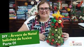 Aprenda Fazer Arvore de Natal  Usando Bolinhas de Fuxico – Parte 1