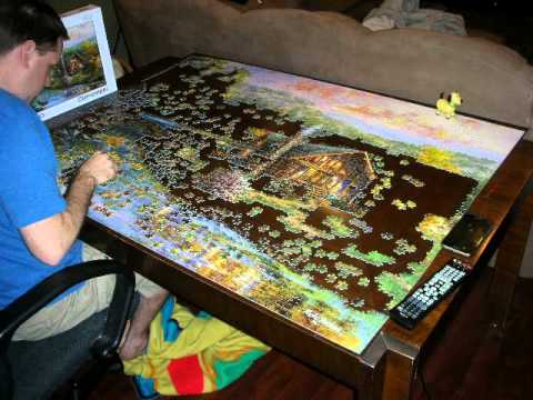 peaceful grove puzzle 4000 piece time lapse youtube. Black Bedroom Furniture Sets. Home Design Ideas