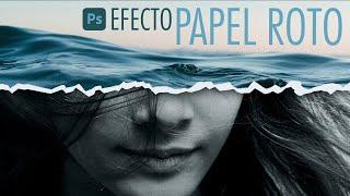 Efecto PAPEL RASGADO | Photoshop Tutorial | Resultado Profesional
