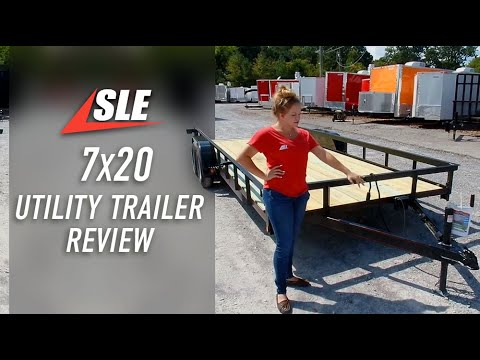 Dovetail Utility Trailer 7x20 With 3500lb Axles Review