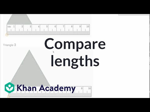 Comparing Lengths | Measurement And Data | Early Math | Khan Academy