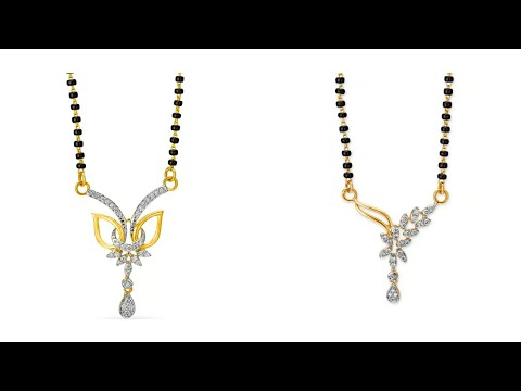Tanishq 18KT Gold And Diamond Mangalsutra || Latest Gold And Diamond Mangalsutra Designs