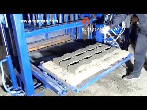 Производство тротуарной плитки, брусчатки или кирпича на гидровибропрессе ВПГ-1000