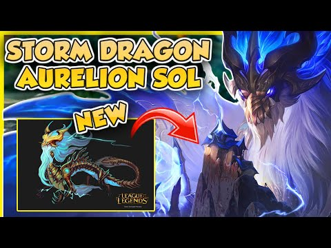 🌩️🐉 AO SHIN IS FINALLY IN THE GAME! | Storm Dragon Aurelion Sol Skin Showcase | Erick Dota PBE
