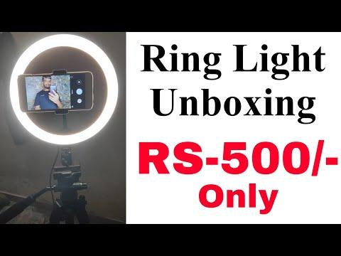 ring light unboxing and review | ring light tiktok | ring light youtube