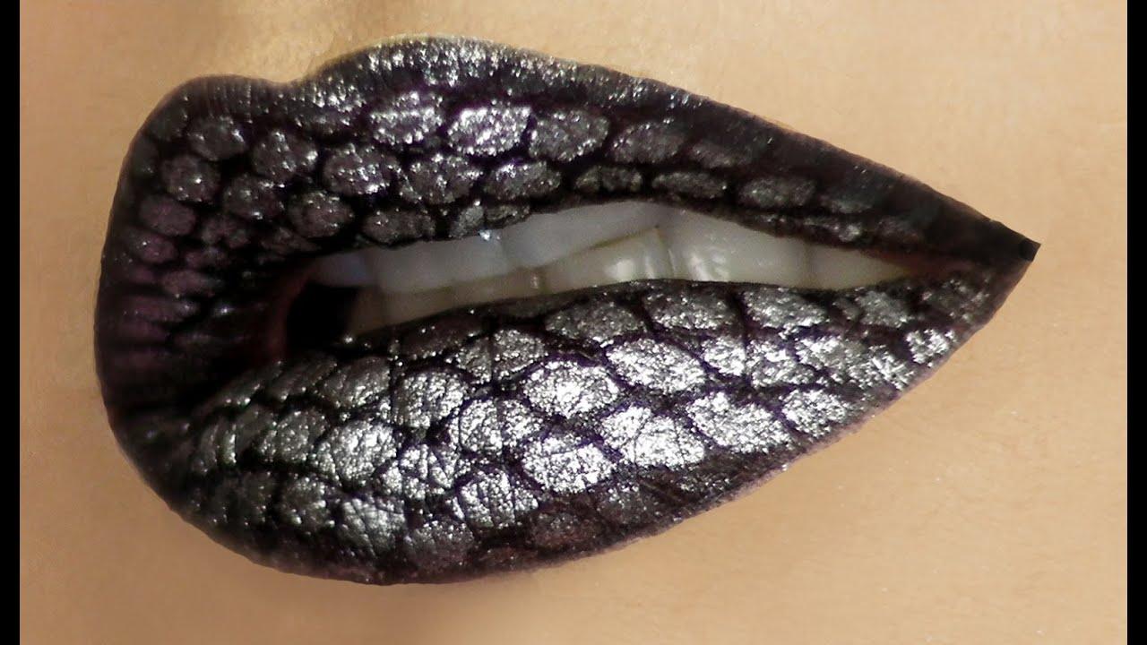 Snake Skin Lip Art Tutorial Youtube