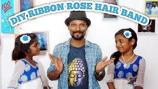 DIY Ribbon Rose for Hair Band  Remo Art 