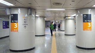 [4K] 서울 지하철 5호선 오금역에서 3호선으로 환승…