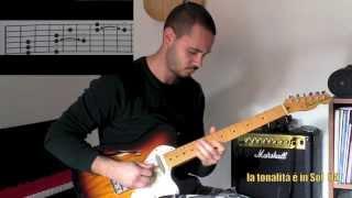 Lezioni di chitarra Blues: Come improvvisare un assolo (con un facile schema pentatonico)
