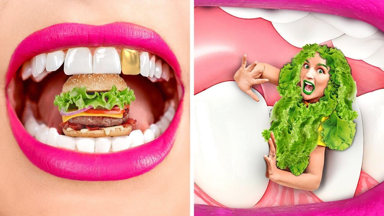 TANTANGAN MAKANAN MAHAL VS MURAH! Murid Kaya VS Miskin! Makan yang Murah Saja oleh 123 GO! CHALLENGE