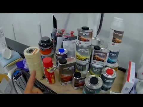 Закупка первичным материалом и стойкой подбора краски Hydrofan