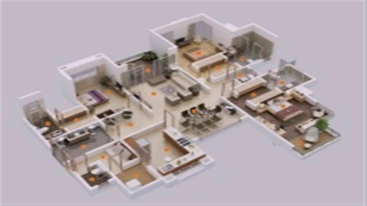 Floor plan 6 bedroom house youtube for 6 room house plan