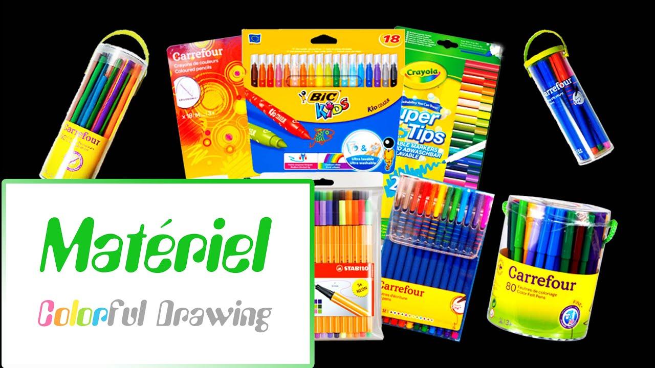Mon Materiel De Coloriages Pour Adultes Partie 1 Youtube