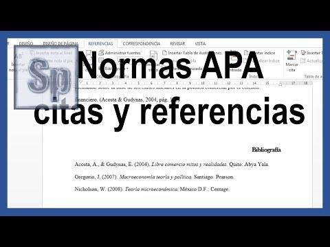 Word - Citas y referencias bibliográficas según normas APA última edición. Tutorial en español HD