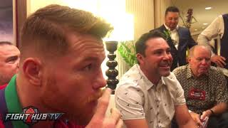 canelo fires back at golovkin s stupid response saying he stopped ko fighters to get the fight