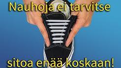 Sitomattomat silikoni kengännauhat