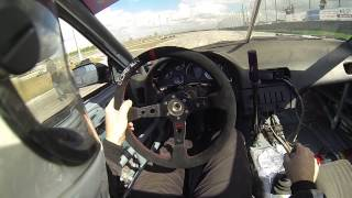 2JZGTE VVT-i Powered S13 (240SX) with 350Z CD009 Transmission at 3 Palms Speedway 02-22-15