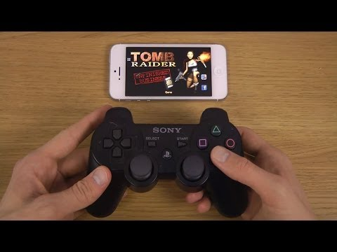 Tomb Raider I iPhone 5 iOS 7 PS3 Controller Wireless Gameplay