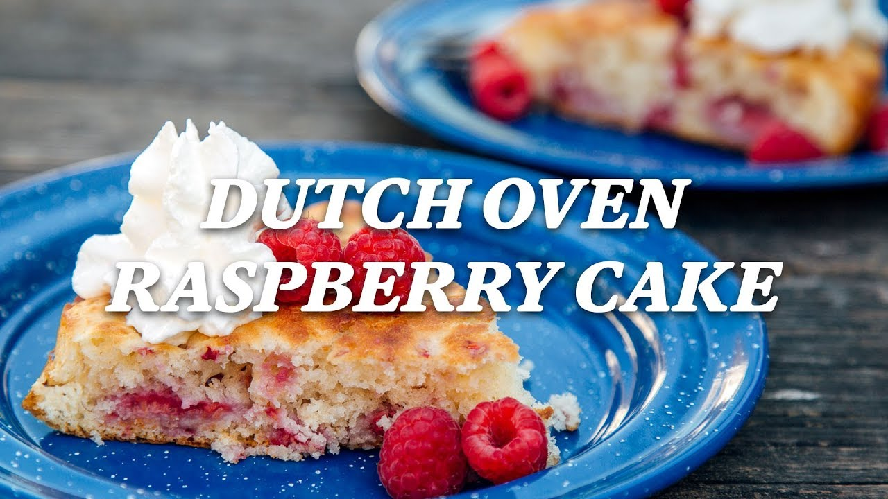 Rei Camp Recipes Dutch Oven Raspberry Cake Youtube
