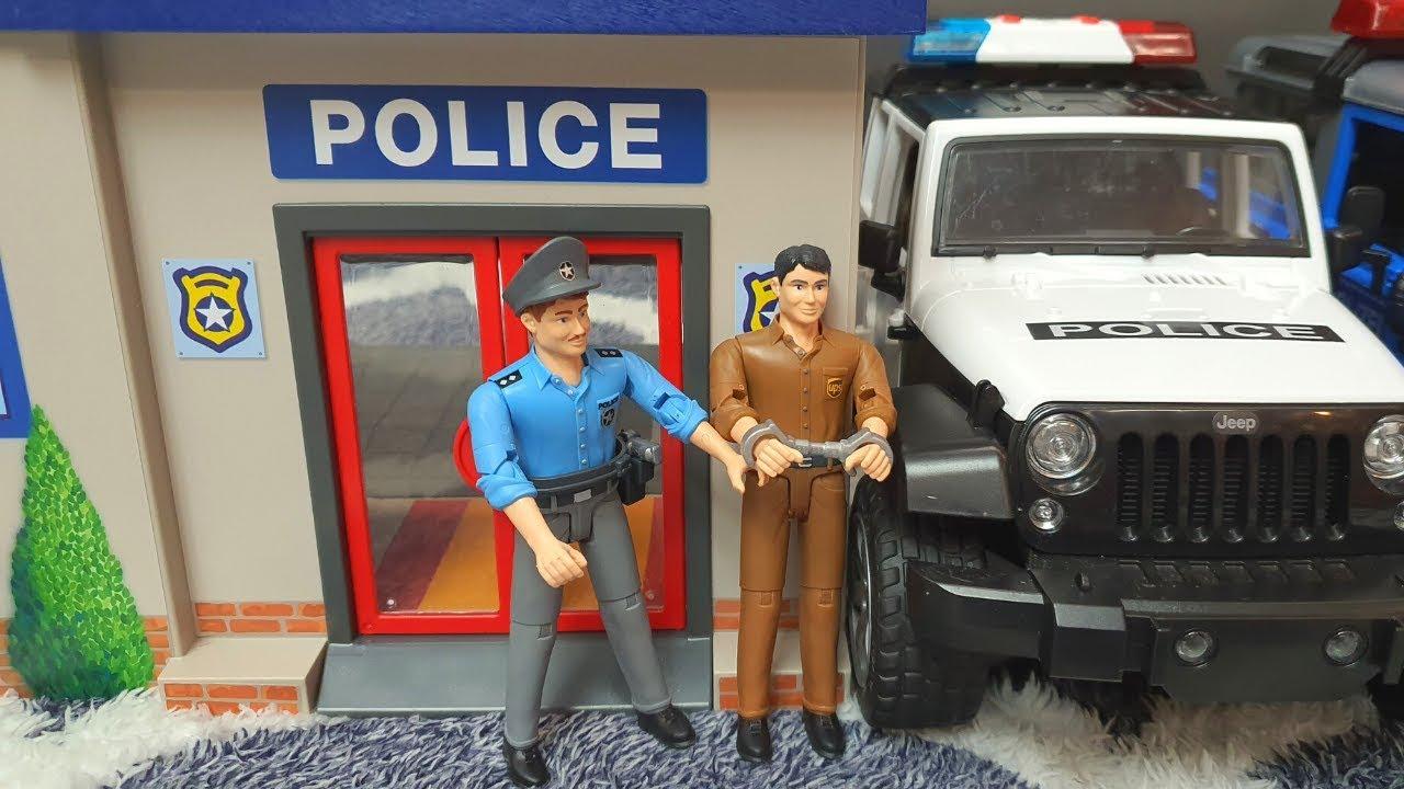 Bruder Police Car / Playmobil Police Station /  Police car toys