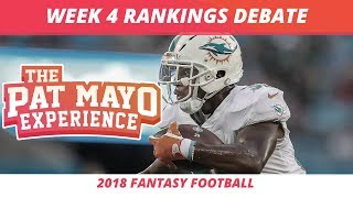 2018 Fantasy Football — Week 4 Rankings, Starts, Sits, Sleepers and Busts