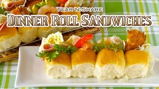 Dinner Roll Sandwiches (Tear
