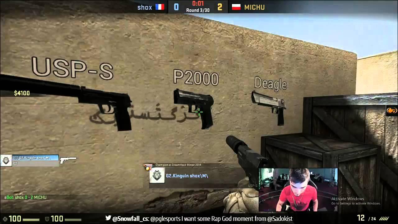 CS-GO PGL HTC 1v1 tournament qualifier Shox vs Michu!