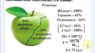 # 26 Урок 16. Проценты. Пропорции.  Решение задач. Математика 6 класс.