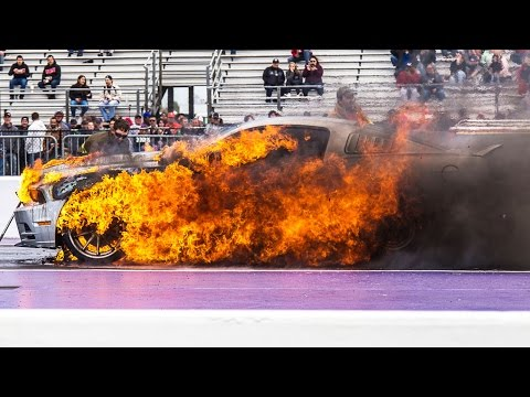 Mustang EXPLODES Into Flames!