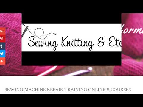 Sewing Machine Repair Training Online Courses That May Be Magnificent Sewing Machine Repair Course