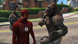 The Flash VS Gorilla Grodd Army Gorilla City Attack on central city