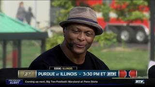 Eddie George Makes Picks With The Tailgate Crew
