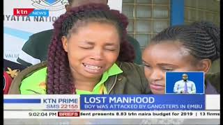 15 year old boy savagely attacked and manhood chopped off undergoing treatment at Kenyatta Hospital