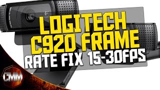 Logitech c920 Frame Rate Fix - 15 FPS to 30 FPS