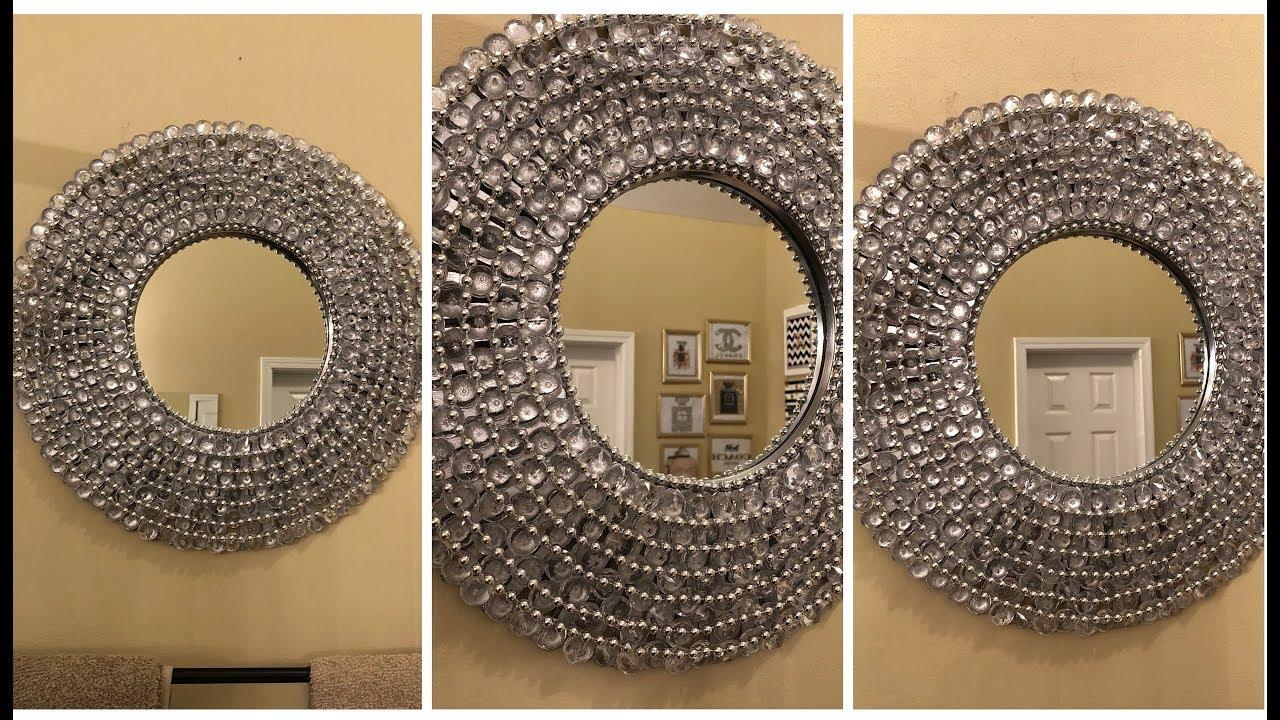 Dollar Tree DIY    Glam Wall Mirror - YouTube