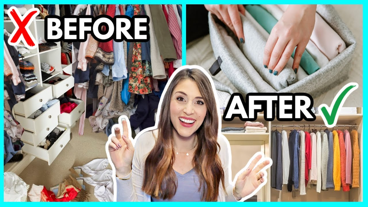LIFE-CHANGING SECRETS TO A DECLUTTERED CLOSET 👗 Cut Your Closet in Half