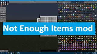 [Minecraft] - 1.8 - NEI - Not Enough Items mod