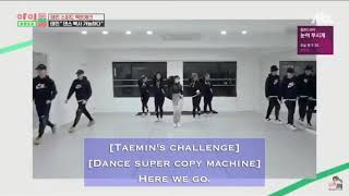 [ENG SUB] TAEMIN SUPER DANCE COPY MACHINE [EXO,BTS,CHUNGHA,TWICE,KEY]