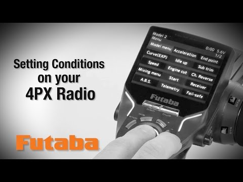 Setting Futaba 4PX Conditions : Tips & How-To's - YouTube