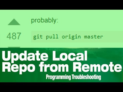 How To Update Local Files From Github