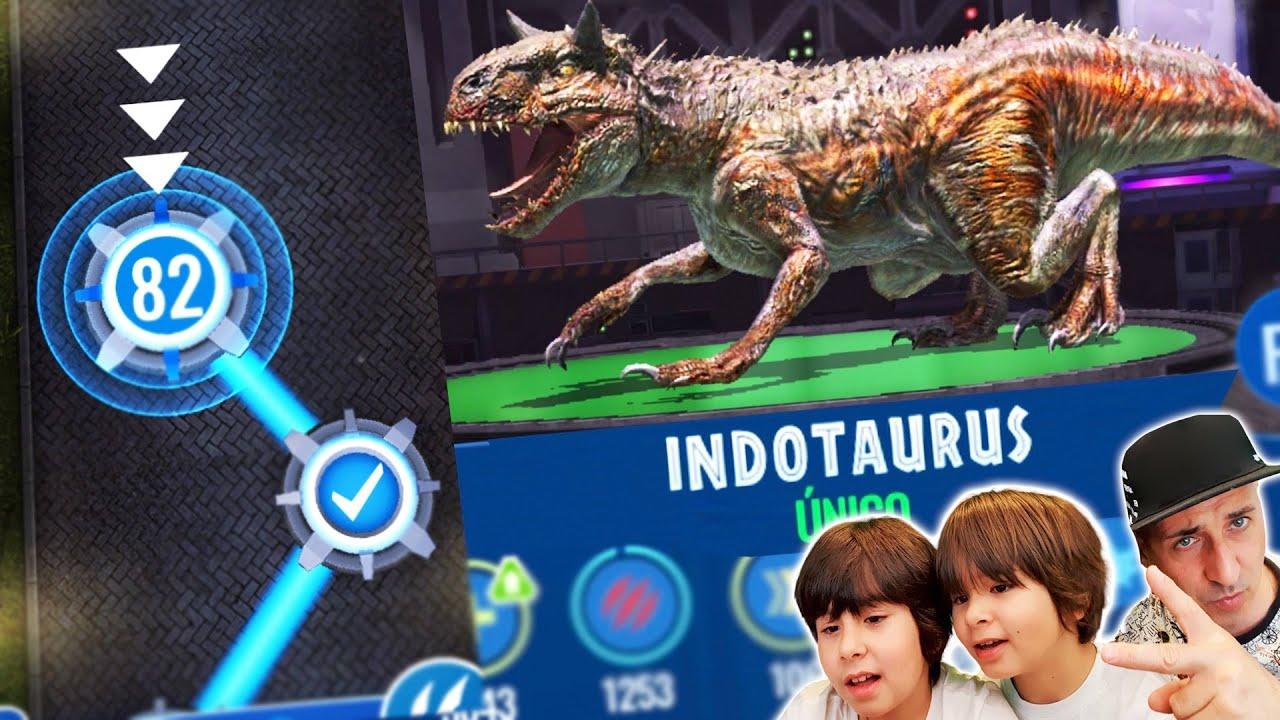 Dani y Evan en la ULTIMA PANTALLA de Jurassic World Alive y COMBATES con el INDOTAURUS