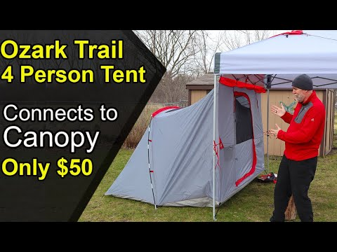 Ozark Trails 4 Person Tent / Clips Onto Canopy