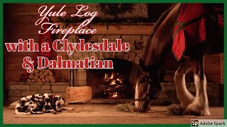 Yule Log Fireplace w/ Clydesdale & Dalmatian (from Budweiser)