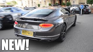 WORLD FIRST 2018 Bentley Continental GT on the road, driving in MONACO!