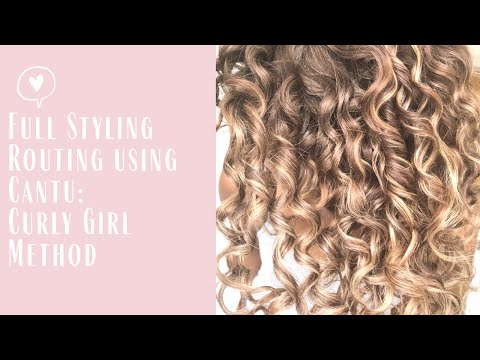 My Full Curly Girl Method Styling Routine Using Cantu
