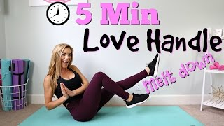 5 Minute Love Handle Melt Down!