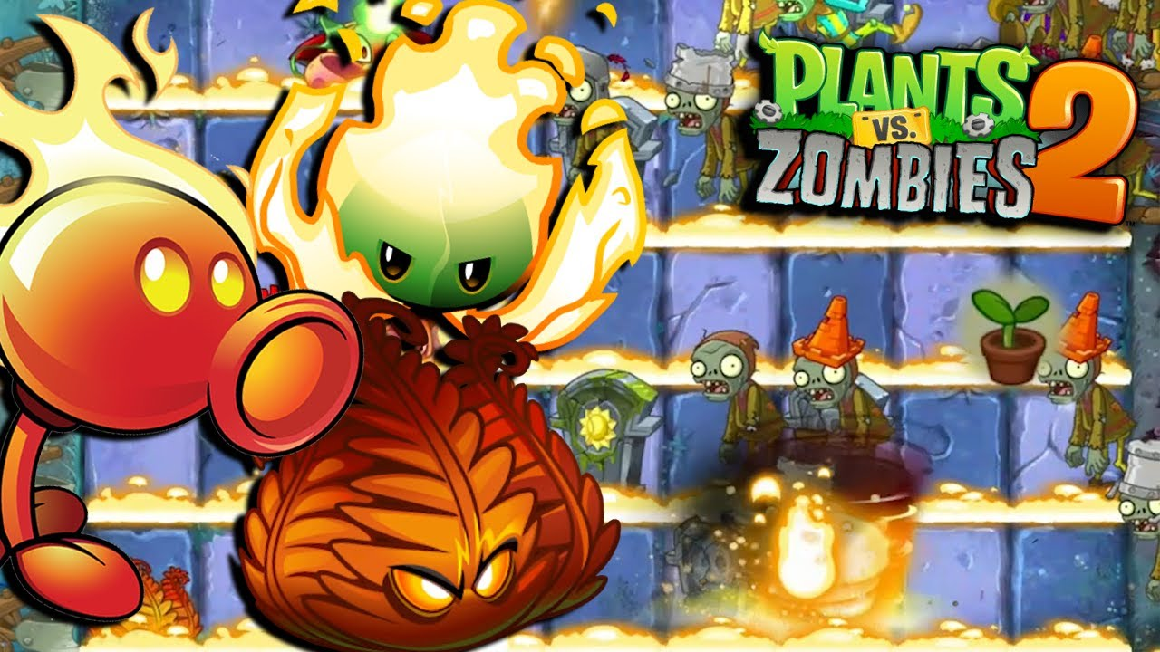 EL MEJOR EQUIPO DE PLANTAS DE FUEGO - Plants vs Zombies 2
